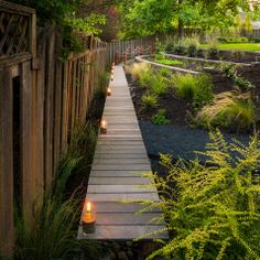 mason jar sand candles light the pathway paradise restored landscaping exterior design portland