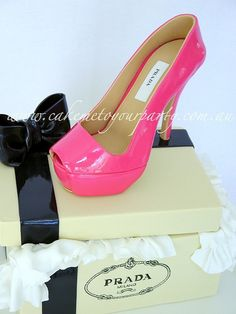 Hot Pink Shoe Box Cake