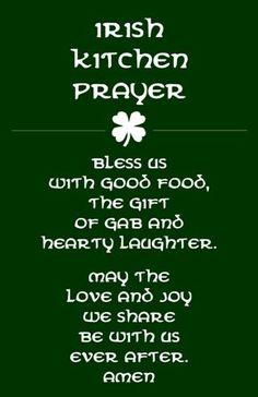 Irish, Ireland,kitchen,prayer,gift,St. Patrick's day,word art, wall art, home decor, subway art,housewarming, kitchen decor, kitchen art