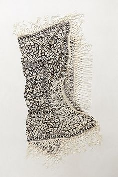 fringed scarf / anthropologie