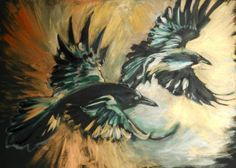 Fly Thought, Fly Memory (Two Ravens) by Lois - Use the 'Create Similar' button to commission an artist to create your own artwork.