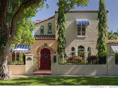 Spanish style house in Coral Gables, Florida