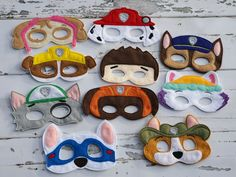 Paw Patrol Masks by MarysDaughters on Etsy