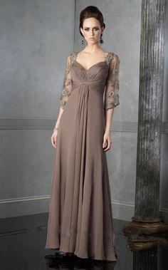 Charming A-Line/Princess Floor-Length Sweetheart Chiffon Dresses
