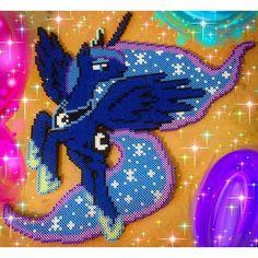 MLP Princess Luna perler beads by 8_bitbabe