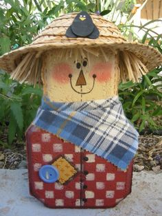 Scarecrow Patio Person Harvest Autumn Fall Garden Art Gift