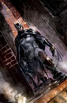 Batman color version by on DeviantArt Hq Marvel, Marvel Dc Comics, Batman Universe, Dc Universe, Joker Batman, Batman Stuff, Dc Comics Art, Batman The Dark Knight, Comic Books Art