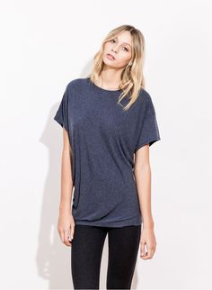 WAVE TEE-HEATHER NAVY | Kit and Ace