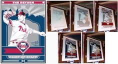 Cliff Lee of the Philadelphia Phillies. Hand made screen print, limited edition of Signed, dated and individually numbered. Officially licensed by Major League Baseball. Art by Chris Speakman. Minor League Baseball, Major League, Propaganda Art, Baseball Art, Baseball Equipment, Philadelphia Phillies, Cliff, Screen Printing, Sports