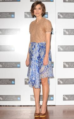 Keira Knightley. This is a weird outfit, but I like it.