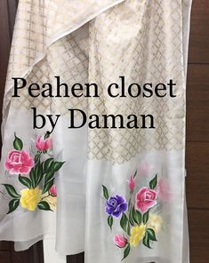 Boutique Embroidery Suits Punjabi, Embroidery Suits Design, Embroidery Dress, Embroidery Designs, Saree Painting, Fabric Painting, Fabric Art, Salwar Suit Neck Designs, Neck Designs For Suits