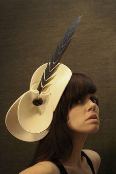 Cream felt hat