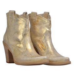Gold booties  by FELMINI from Snotty and available at : fashion-locals.com