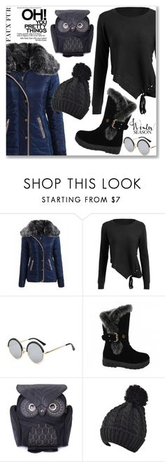 """""""Keep it Cozy: Fuzzy Coats (Casual Chic)"""" by jecakns ❤ liked on Polyvore"""