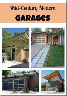 Mid-Century Modern Garages. Clopay Avante Collection glass and aluminum garage doors. www.clopaydoor.com