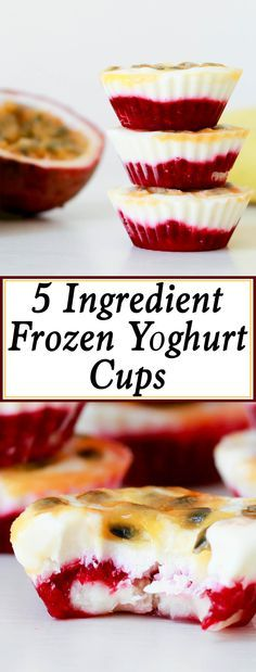 These are one of my children's favourite after school snacks. It's hot all year round here in Vietnam, and having these yummy frozen yoghurt cups sitting in the freezer makes a quick and healthy treat. Plus, you only need 5 ingredients to make this treat.