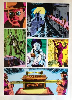 Back cover of the Raiders of the Lost Ark comic magazine. Indiana Jones.