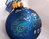 Peacock Wedding Ornament -