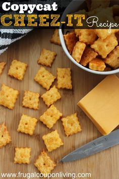 Homemade Copycat Cheez-It Recipe – It is so easy to make your own crackers and this could easily become organic cheese crackers!
