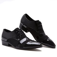 the best attitude d82f7 41a9e 7.56 50% de DESCUENTO Aliexpress.com  Comprar LIN KING negro charol hombres  Oxfords moda puntiagudos zapatos de boda con cordones Casual Low Top  tobillo ...