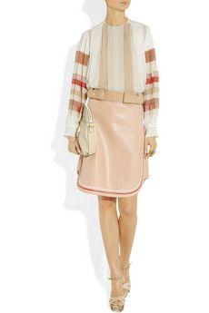 Chloe Piped leather mini skirt
