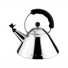 Alessi Limited Edition Stainless Kettle With Black Handle - Lux Bond & Green