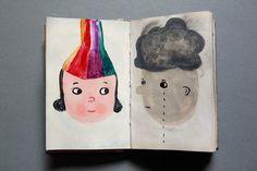 rainbow-girl and cloud-boy by virginhoney, via Flickr