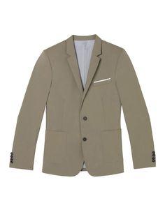 Veste de costume crispy coton beige - Nouvelle Collection - The Kooples