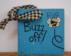 Bumble Bee Mini Sign Pallet Wood Sign Bee You Sign by Ramshackles