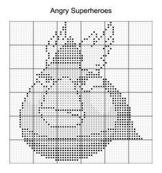 Cross Stitch - Angry Bird Superheroes 3 of 16 - thor