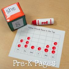 spring sight word race to the top    Graphing, probability, and working with words all in one