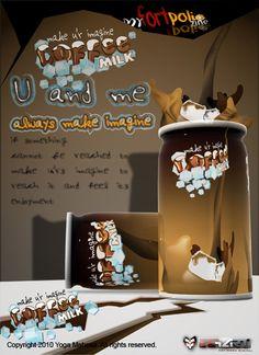 Cartoon Coffee Poster   Ryogart