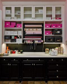 Home office/studio/craft  white on top, black on bottom