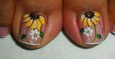 Pretty Toe Nails, Cute Toe Nails, Pretty Toes, Cute Acrylic Nails, Toe Nail Art, My Nails, Pedicure Designs, Toe Nail Designs, Pedicure Ideas