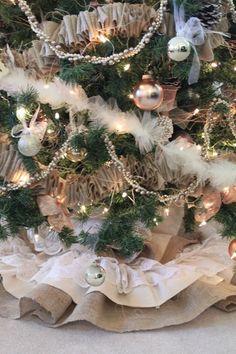 burlap lace christmas tree