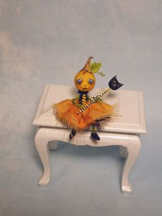 Artisan Dolls House Polymer Clay magic pumpkin garden Ooak Figure 1:12th Puppenstuben & -häuser