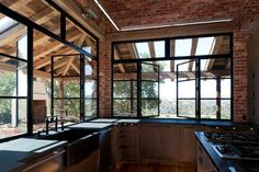 Los Alamos Home - industrial - kitchen - santa barbara - by Drammer Construction, Inc.