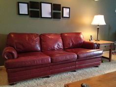 Leather sofa and accent chair for sale. Would love to keep them