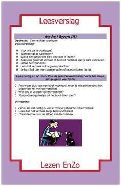 Leesverslag > na het lezen. Verhaal (stukje) voorlezen. Dutch Language, Spelling, Classroom, Teacher, Writing, Reading, School, Books, Dyslexia