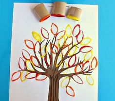 Trendy tree crafts for kids to make toilet paper