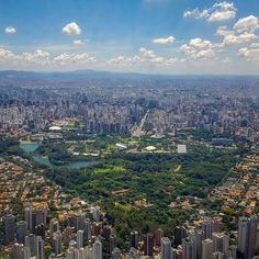 """Parque do Ibirapuera. Our own """"Central Park"""". Brazil Tourism, States Of Brazil, Sao Paulo Brazil, Tokyo Tower, Sky View, Outside World, City Landscape, Travel Aesthetic, Aerial View"""