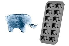 @BabzHupp -  This flexible plastic ice cube tray makes 12 elephant-shaped ice cubes. Dimensions 11 by 22 cm.