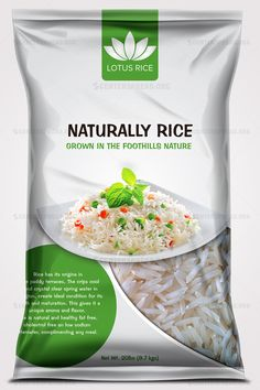 Be Inspired By These Creative Rice Packaging Designs Food Packaging Design, Packaging Design Inspiration, Roast Beef With Vegetables, Sugar Packaging, Eating Too Much Protein, Rice Bread, Chili Spices, Spaghetti Meat Sauce, Rice Bags