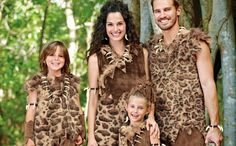 """Caveman family!  Thanks for joining our """"Crazy for Costumes"""" party!"""