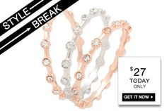 STYLE BREAK! Get the Twla Ring Set for $27.