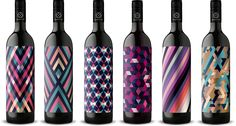 Emblazoned with bright, colorful patterns, this entire vino collection is ultra modern and eye-catching. - Delish.com