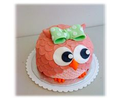 Pink Owl Kid's Birthday Cake That just looks too cute to even cut into lol