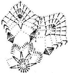 Afbeeldingsresultaat voor schemy na háčkované zvonečky Crochet Snowflake Pattern, Crochet Stars, Crochet Motifs, Form Crochet, Crochet Snowflakes, Afghan Crochet Patterns, Diy Crochet, Crochet Doilies, Crochet Flowers