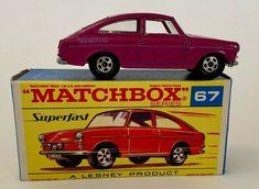 Matchbox Superfast Lesney Series 67 Purple Volkswagen 1600 TL & Box Near Mint  #Matchbox #Volkswagen