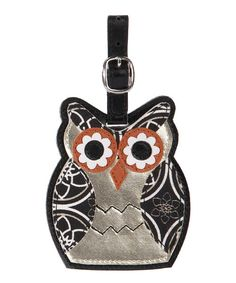 Owl Luggage Tag-Metallic